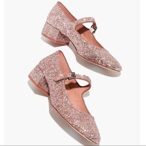 Madewell The Delilah Mary Jane Glitter J8287